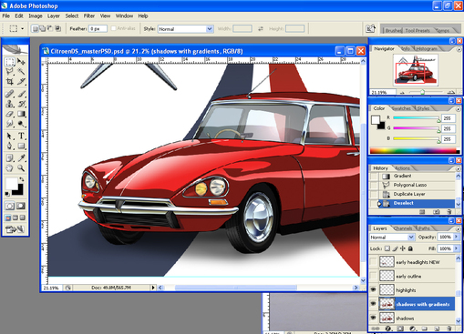 Citroen DS illustration almost done!